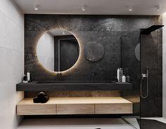 Architecture,Interior Design,Visual Effects Bathroom Lighting Inspiration, Best Bathroom Lighting, Ideas Baños, Bedroom False Ceiling Design, Toilet Design, Bathroom Design Luxury, Bathroom Furniture, Modern Interior Design, House Design