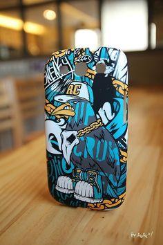 Hiphop crow RAVEN. Smartphone hard case. Designed by DOLDOL