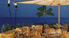 Enjoy a scenic ocean view dinner at The Ocean Grill at Four Seasons Resort Lana`i at Manele Bay. #iheartlanai #Hawaii