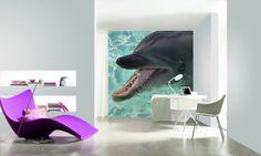 """Fototapete """"delfin""""-erhältlich neben vielen weiteren Motiven auf www.wallprint-factory.com"""