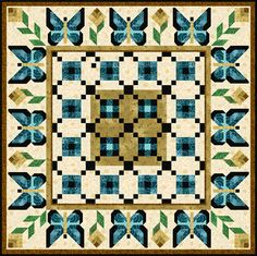 Butterflies Are Free Queen and King - @ maureen for butterfly quilt