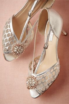 ddba1e41092c4 Chambers Shoe Clips from BHLDN Inspired by the romantic style of the these  pearl and crystal clips attach to any pair in need of some vintage glam.
