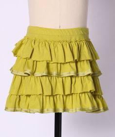 Stylish yet simple, boutique-beautiful yet made from comfy cotton and totally machine washable; this chic skirt would look just as perfect in Paris' fashion district as it would on the school playground100% cotton exclusive of decorationMachine wash; hang dryImported