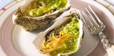 Huîtres gratinées aux échalotes confites