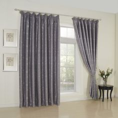 Geometric Neoclassical Grey Blackout Curtains  #curtains #decor #homedecor #homeinterior #grey