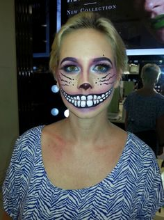 Cheshire cat makeup Halloween 2015, Halloween Season, Halloween Cosplay, Halloween Make Up, Halloween Themes, Halloween Decorations, Halloween Party, Halloween Face Makeup, Halloween Costumes