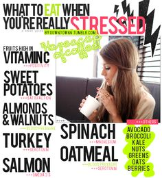 Healthy food that help with stress. Healthy Mind, Healthy Habits, Get Healthy, Healthy Choices, Healthy Foods, Health And Beauty, Health And Wellness, Health Tips, Health Fitness