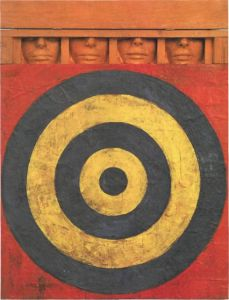 Jasper Johns, Target with Four Faces, 1955