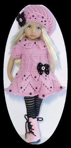 Corduroy coat and dress set made for Effner little darling dolls