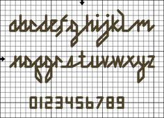 Free Lowercase Back Stitch Alphabet Pattern