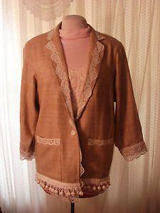 Jacket Blazer Size Large Romantic Altered Clothing Upcycled Shabby Jacket OOAK