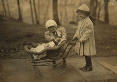 Two young girls play a Campbell Soup Kid doll, New York, New York, March One pushes it in a pram while the other looks at it with come concern. Get premium, high resolution news photos at Getty Images Child Doll, Baby Dolls, Old Pictures, Old Photos, Antique Photos, Little Babies, Little Girls, Dolls Prams, Bring Up A Child