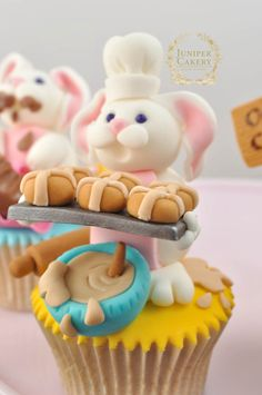 The 3 Bunnies of Easter Cupcakes by Juniper Cakery