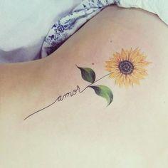 Sunflower tattoo tatuaggi sunflower tattoos, amor tattoo e t Sunflower Tattoo Shoulder, Sunflower Tattoo Small, Sunflower Tattoos, Sunflower Tattoo Design, Sunflower Art, Watercolor Sunflower Tattoo, Shoulder Tattoo, Amor Tattoo, Tattoo You