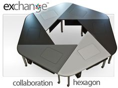 Collaboration Furniture, Collab Education Furniture, Collaborative Computer Conference Tables-- the Exchange™ Collaboration Table System by SMARTdesks