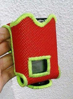 Tasche für Piepser - Feuerwehrmann ;-) gemacht aus Feuerwehrschlauch