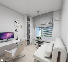 Jasne kolory powiększają optycznie mały gabinet - zdjęcie od Dizajnia art - studio projektowe - Gabinet - Styl Skandynawski - Dizajnia art - studio projektowe