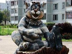 Кот Матроскин, сквер на ул. Республиканская, Тверь, Россия.