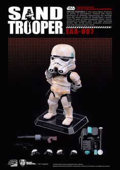 Beast Kingdom Toys is proud to present Egg Attack Action Star Wars Series? Sandtrooper from Star Wars: Episode IV. Anime Figures, Action Figures, Star Wars Episodio Vii, Figuras Star Wars, Star Wars Episode Iv, Figure Reference, Star Wars Poster, Star Wars Humor, Beast