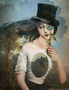 'Portrait 11 With Hat: by Catrin Welz-Stein / http://catrinwelzstein.blogspot.ca/