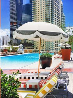 Book your ResortPass! Experience style, luxury, and glamour at Downtown Miami's hottest pool scene- the Altitude Pool Deck at SLS Brickell. An urban oasis with vibrant eclectic design, two sparkling pools, comfortable chaise lounge chairs, and a full-service luxury spa, the SLS Brickell offers the best amenities for a day of play and relaxation. Sip creative cocktails, swim in the infinity pool, and lounge in a shaded cabana while taking in stunning views of downtown Miami and the bay. Florida Hotels, Miami Florida, Hotels And Resorts, Brickell Miami, Downtown Miami, Eclectic Design, Luxury Spa, Lounge Chairs, Cabana