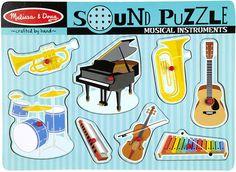 Brinquedos Musicais: Melissa Doug Sound Puzzle