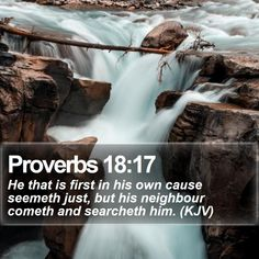 Proverbs 18:17   He that is first in his own cause seemeth just, but his neighbour cometh and searcheth him. (KJV)   #Wallpaper #Scriptures #Amen #DailyPrayer #FamousQuotesWallpapers   http://www.bible-sms.com/