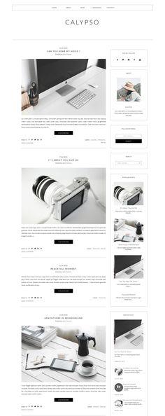 Blogger Template Responsive -CALYPSO - Websites