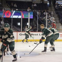 Granny, Haula, Staal, Gravy. #mnwild and #nhljets hockey coming up. #Staal1000. .