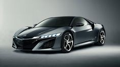 The Acura NSX hybrid. A smooth sportscar that's also smart for the environment!