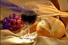 santa ceia pão e vinho - Pesquisa Google