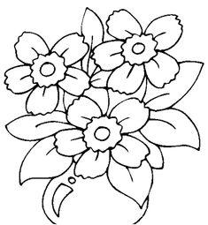 Pintura em Tecido, Como fazer, Passo a passo, Riscos e muitas dicas.: Riscos Pintura em Tecido Flores