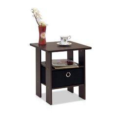 Table Bedroom Night Stand Bedroom Furniture,  Dark Brown/Black #NightStand
