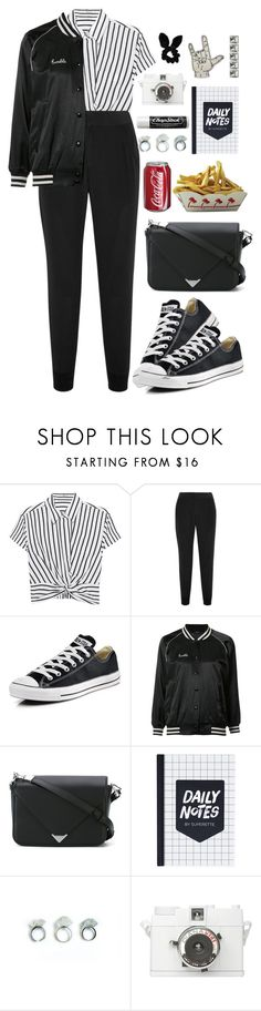 """""""Sin título #1697"""" by mrs-malfoy ❤ liked on Polyvore featuring T By Alexander Wang, Splendid, Converse, R13, Alexander Wang, Chapstick, Lomography, Topshop, converse and AlexanderWang"""