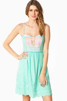 Wren Tank Dress in Mint