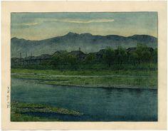 """Setakamui Rock, Shiribeshi"" by Hasui, Kawase  Watercolor  1930"
