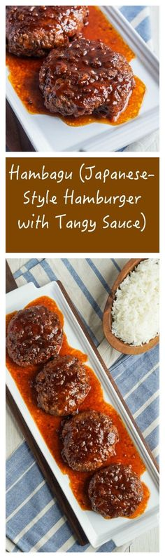 Japanese Style Hamburger with Tangy Sauce