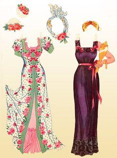 1942 Lana Turner paper doll clothes / gabipaperdolls.blogspot.com