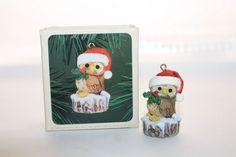 1980 Hallmark Keepsake Christmas Owl Ornament