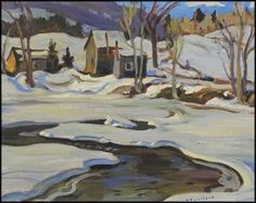 Jackson - Near Cheneville Quebec 16 x 20 Oil on Canvas Group Of Seven Artists, Group Of Seven Paintings, Paintings I Love, Painting Snow, Winter Painting, Winter Art, Canadian Painters, Canadian Artists, Tom Thomson Paintings