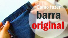 Barra Original simples calça jeans #1 Dicas da Gê