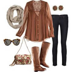 Fall style. We've still got a few months until it'll be cool enough for this.