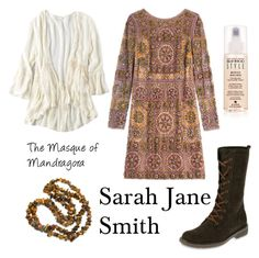 """""""Sarah Jane Smith The Masque of Mandragora"""" by classicwhofashion ❤ liked on Polyvore featuring Emilio Pucci, American Eagle Outfitters, CAT Footwear and Alterna"""