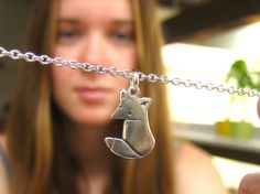 Little Wild Fox Charm or Necklace by marmar on Etsy, $25.00