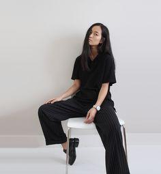 AÃRK Collective—Maria Van Nguyen wearing the Eon Silver watch