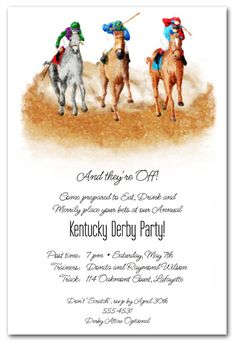 Turnin it on Horse Racing Party Invitations Perfect for your