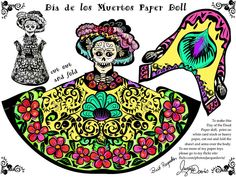 Day of the Dead Paper Doll