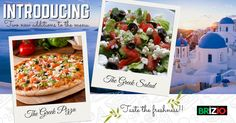 We're super excited to introduce to you our new Greek additions to the Brizio Menu >> The Greek Pizza & The Greek Salad! Available now at our outlets! Try now!!  #BrizioPizza #NewInTheMenu #GreekPizza #GreekSalad #Enjoy