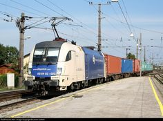 RailPictures.Net Photo: ES64 U2 - 023 Wiener Lokalbahn AG ES64 Taurus at Enns, Austria by Janet Cottrell