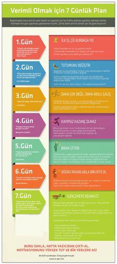 Değişmek, verimli olmak için 7 günlük plan / #Infografik - #Infographic